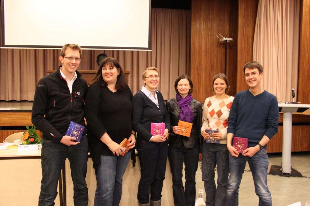 Organisationsteam des 3. PiA-Politik-Treffens (v.l.n.r.: Robin Siegel (BuKo PiA), Ariadne Sartorius (bvvp), Kerstin Sude (DPtV), Ariane Heeper (DGPT), Katharina Simons (PfgB), Peter Freytag (VPP)